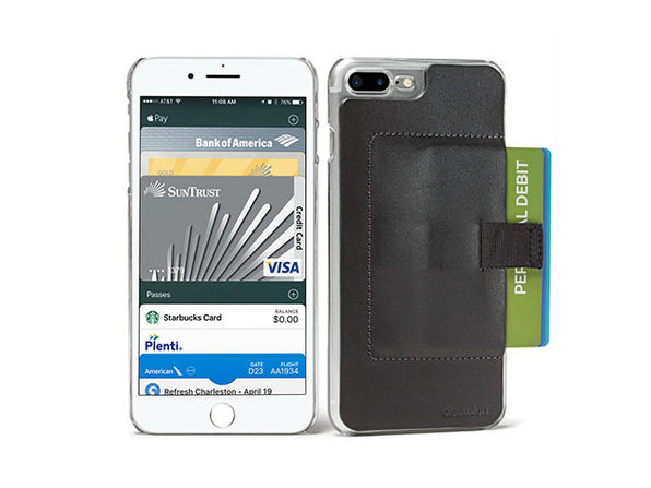 701cb11cdc61d0 Wally Ether iPhone 7 Plus Wallet Case (Black). This iPhone Case Looks Great  & Has Secret Superpowers