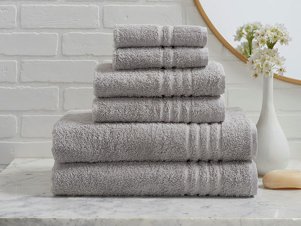 Turkish Cotton 6-Piece Ensemble Towel Set (Grey)