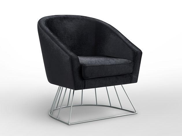 Strange Adalene Velvet Accent Chair Joyus Ibusinesslaw Wood Chair Design Ideas Ibusinesslaworg
