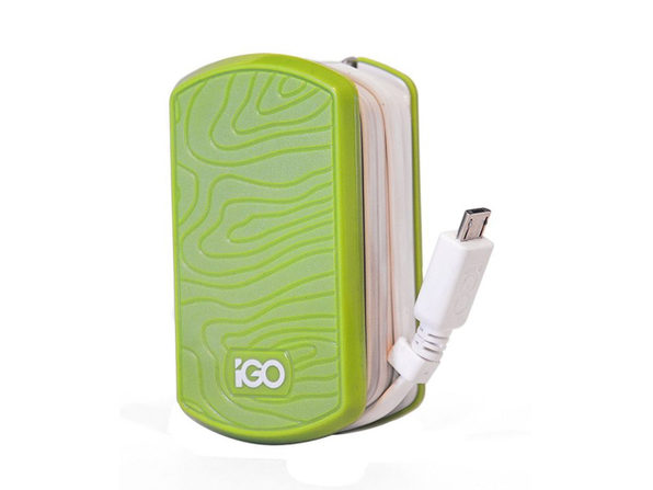 iGo by Incipio Smartphone Wall Charger for Micro USB Devices - Green/White - Product Image
