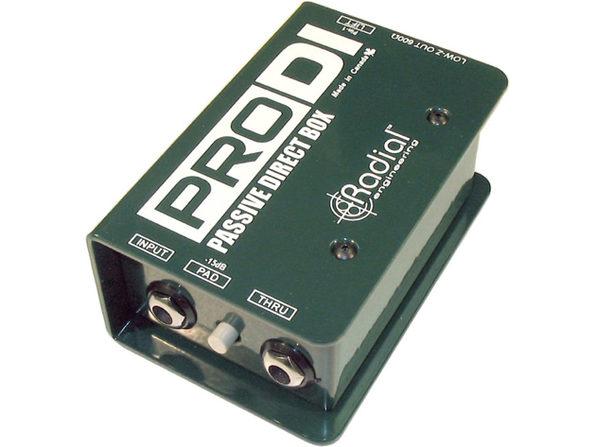 Radial Engineering Pro DI Passive Compact Rugged Full Range Direct Box 15dB