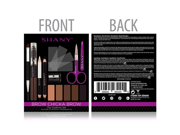 SHANY Brow Chicka Brow Eyebrow Set - 17 Piece Eyebrow Makeup Kit with Brow Powder, Brow Gel, Dual Ended Pencils, Stencils, Scissors, and Tweezers - All Hair Colors for $19 6
