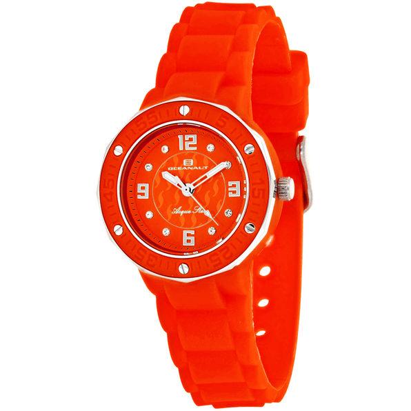 Oceanaut Women's Acqua Star Red Dial Watch - OC0440 - Product Image
