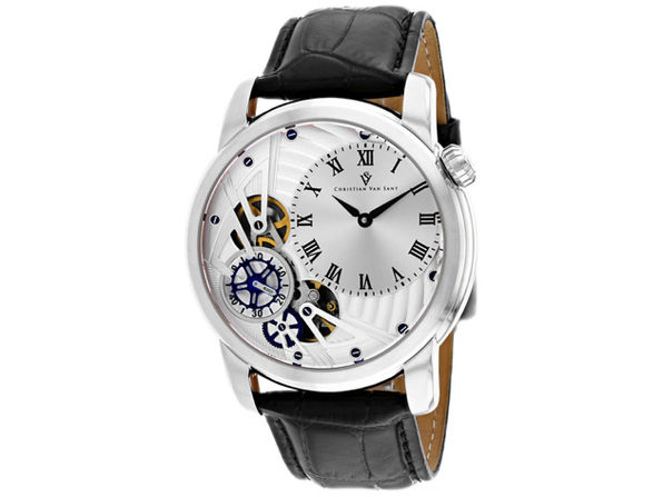 Christian Van Sant Men's Sprocket Auto-Quartz Silver Dial Watch - CV1540