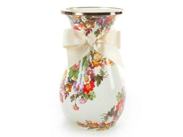 Mackenzie-Childs Flower Market Enamel Vase - Tall