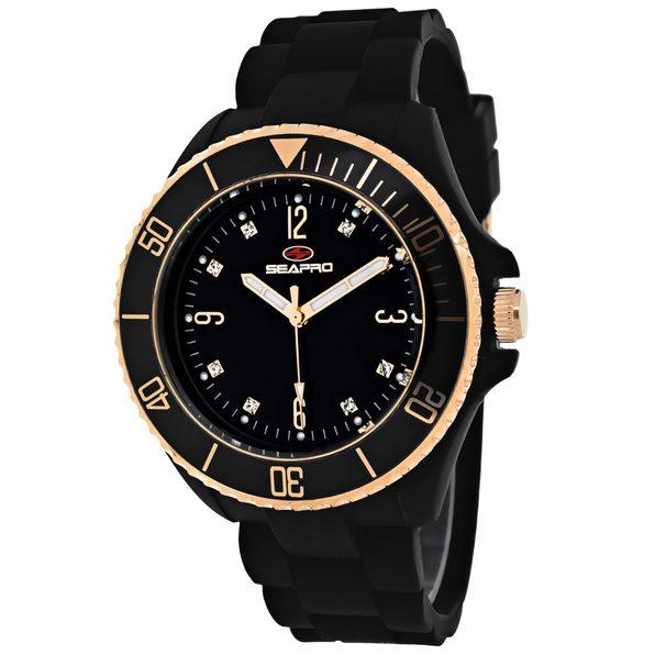 Seapro Women's Sea Bubble Black Dial Watch - SP7412