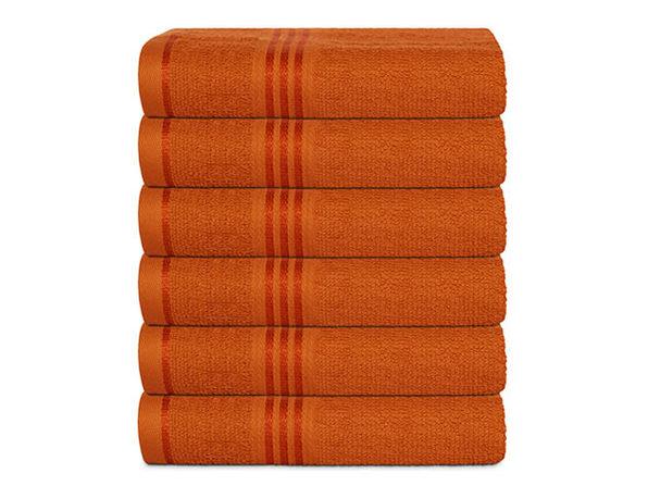 Hurbane Home 6 Piece Hand Towel Set Orange - Product Image