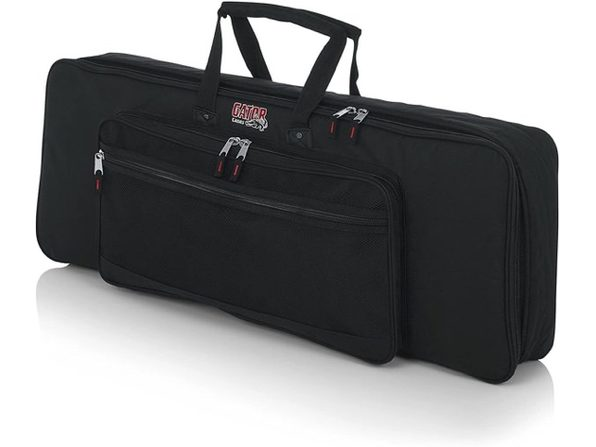 Gator GKB-49 Cases Padded Keyboard Gig Fabric Bag Fits 49 Note Keyboards - Black (No Box)