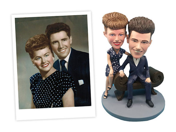 Handmade Custom Couple Bobblehead (50% Off Code)