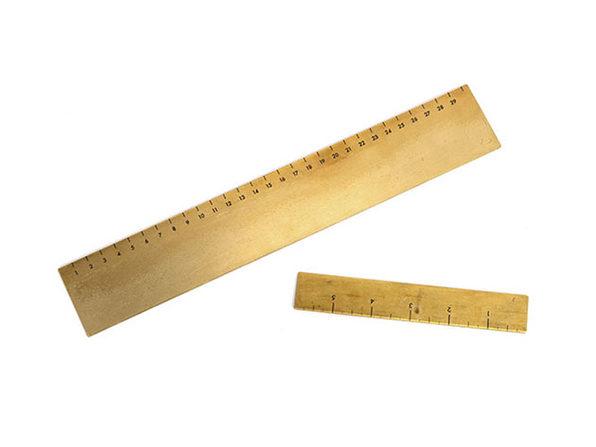 """Brass Ruler 12"""" & 6"""" Set"""
