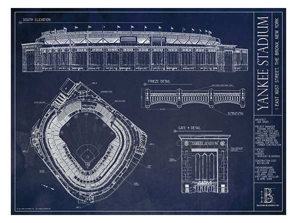 "Unframed Print 18""x24"": New Yankee Stadium, New York Yankees"