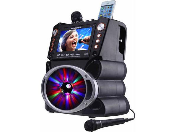 Karaoke USA GF846 DVD/CDG/MP3G Karaoke Machine with 7 inch Screen - Product Image