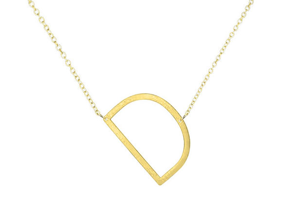 14K Gold Plated Letter Necklace - D - Product Image