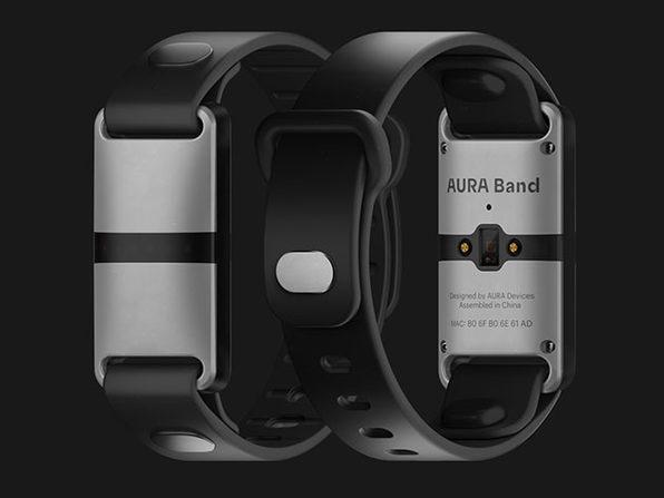 Aura Band - White Device (Black Band) - Product Image