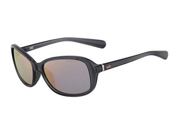 Nike EV0885-001 Poise R Sunglasses Crystal Dark Gray Rose Gold Flash Lens - Product Image