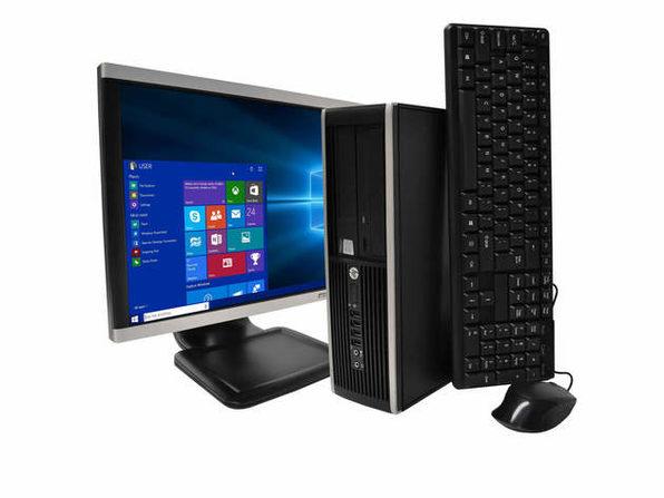 """HP Compaq 6300 Desktop Computer PC, 3.20 GHz Intel i5 Quad Core Gen 3, 8GB DDR3 RAM, 500GB SATA Hard Drive, Windows 10 Professional 64 bit, BRAND NEW 24"""" Screen (Renewed)"""