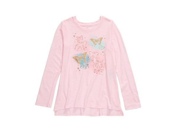 Epic Threads Big Girls Butterfly T-Shirt Pink Size Extra Large