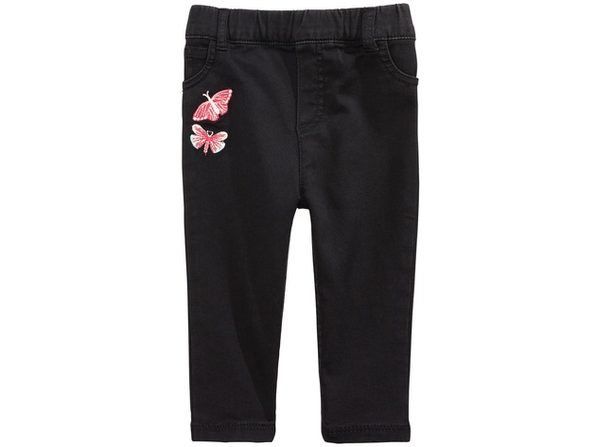 First Impressions Baby Girls Embroidered Jeans Black Size 24 Months
