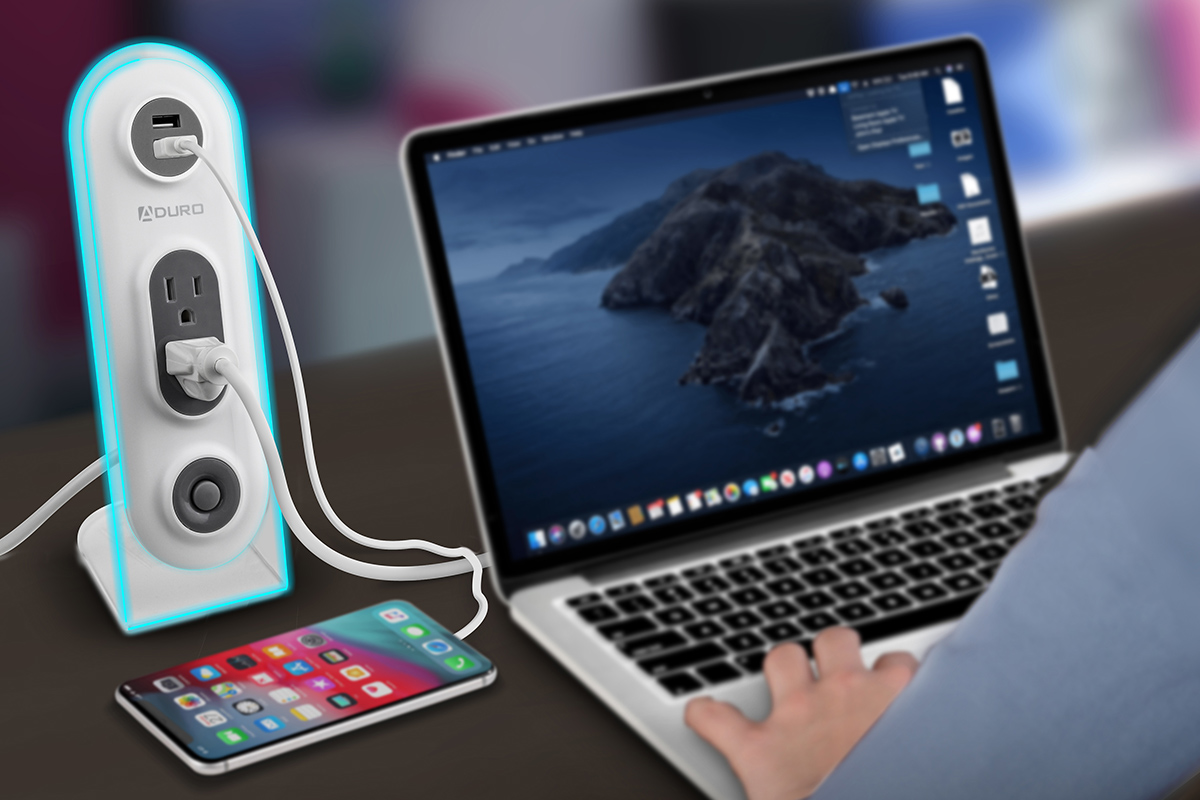 SURGE DUO Dual USB & Dual Surge Charging Station, on sale for $18.99 (62% off)