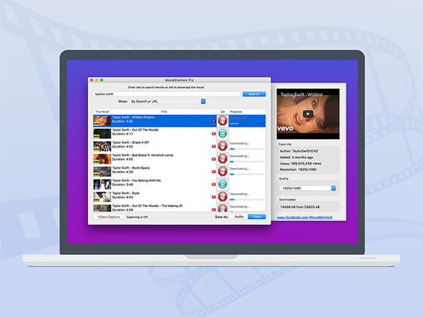 MovieSherlock Pro Video Downloader for Mac