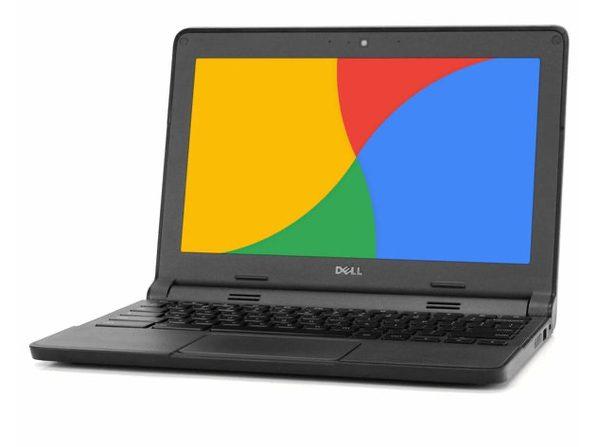 "Dell ChromeBook 3120 Laptop, 2.16 GHz Intel Celeron, 4GB DDR3 RAM, 16GB SSD, Chrome, 11"" Screen (Renewed)"