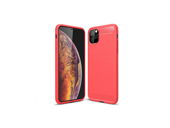 iPM iPhone 11 Pro Max Carbon Fiber Protective Case - Red - Product Image