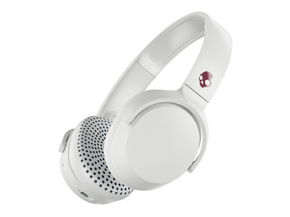 Skullcandy Riff Wireless™ On-Ear Headphones (White/Crimson)