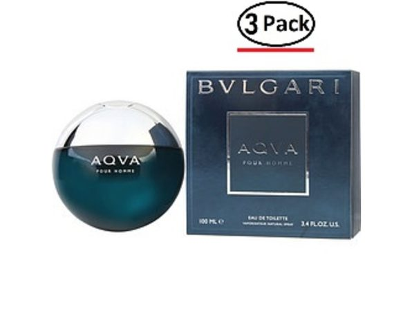 BVLGARI AQUA by Bvlgari EDT SPRAY 3.4 OZ for MEN ---(Package Of 3) - Product Image