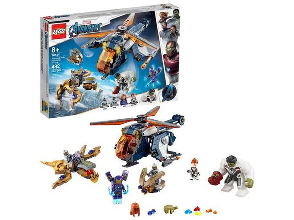 LEGO Marvel Avengers Hulk Helicopter Rescue Building Kit, 482 Pieces, Multicolor (New Open Box)