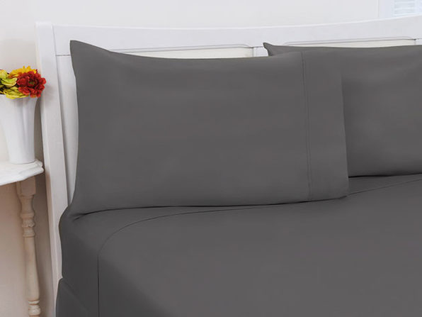 1800 Series Bamboo Extra Soft 4-Piece Sheet Set (Full/Grey)