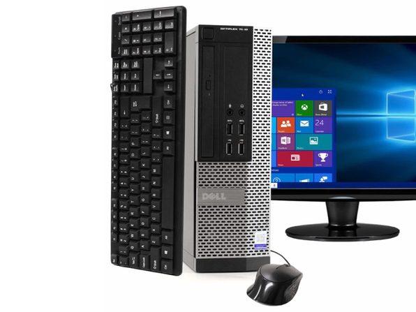 """Dell OptiPlex 7020 Desktop PC, 3.2GHz Intel i5 Dual Core Gen 4, 16GB RAM, 240GB SSD, Windows 10 Professional 64 bit, 22"""" Screen (Renewed)"""
