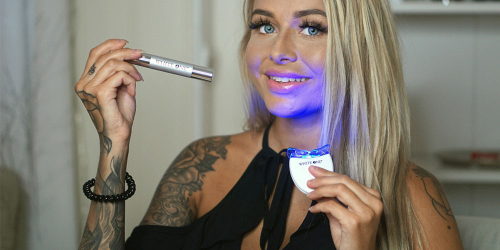 White OneUltimate Teeth Whitening Kit, on sale for $42.49 when you use coupon code MERRY15 during checkout