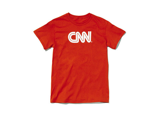 CNN Basic Tee  Red L - Product Image