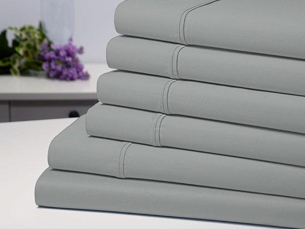 Bamboo Comfort 6-Piece Luxury Silver Sheet Set (Queen)