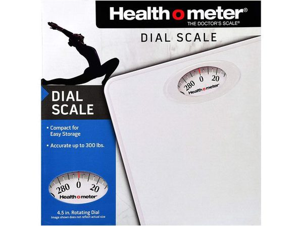 Health O Meter HAB700DQ201 Dial Personal Weight Scale, White - Product Image