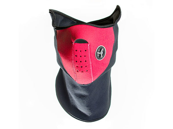 Neoprene/Fleece Neck and Face Mask - Red - Product Image
