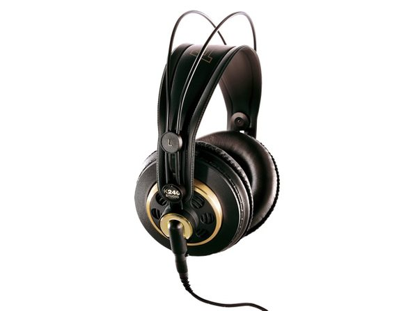 AKG K240STUDIO Semi-Open Over-Ear Professional Studio Headphone with Stereo Plug (Used, Damaged Retail Box) - Product Image