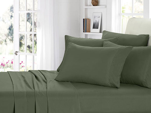 2000 Series Bamboo Fiber 6-Piece Sheets (Sage)