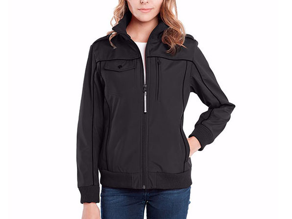 BauBax Women's Bomber Jacket (Black)