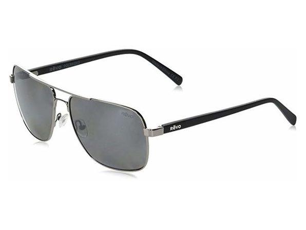 Revo RE 5022 00 GY Peak Navigator Polarized Aviator Sunglasses, Gunmetal, 59 mm - Black
