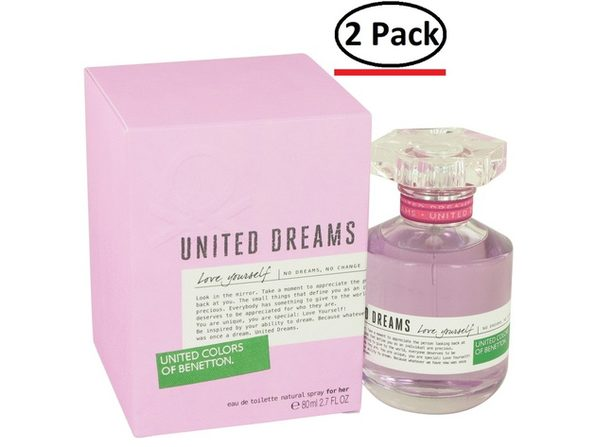 United Dreams Love Yourself by Benetton Eau De Toilette Spray 2.7 oz for Women (Package of 2) - Product Image