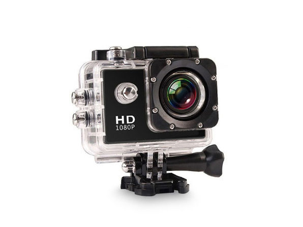 Electronic Avenue HD Waterproof Action Camera + Accessory Pack (Black)