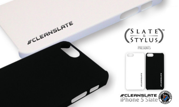 Style Up Your iPhone 5 With #CLEANSLATE Cases (Black & White) - Product Image