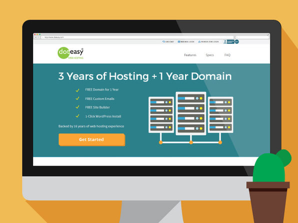 Doteasy Web Hosting: 3-Years Starter Hosting & 1 Year of Free Domain - Product Image