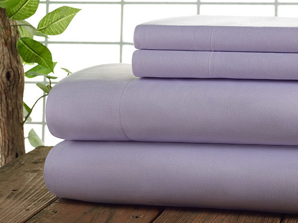 Kathy Ireland 4-Pc Coolmax Sheet Set - Queen - Lilac - Product Image