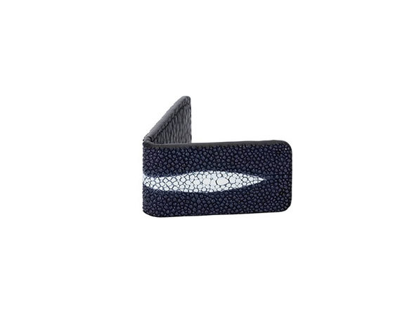 Andre Giroud Exotic Stingray Money Clip (Mini/Navy Blue)