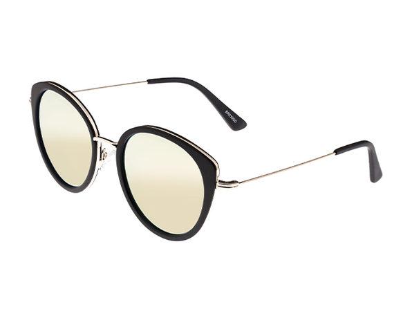 Bertha Sasha Wayfarer Sunglasses (Gold)