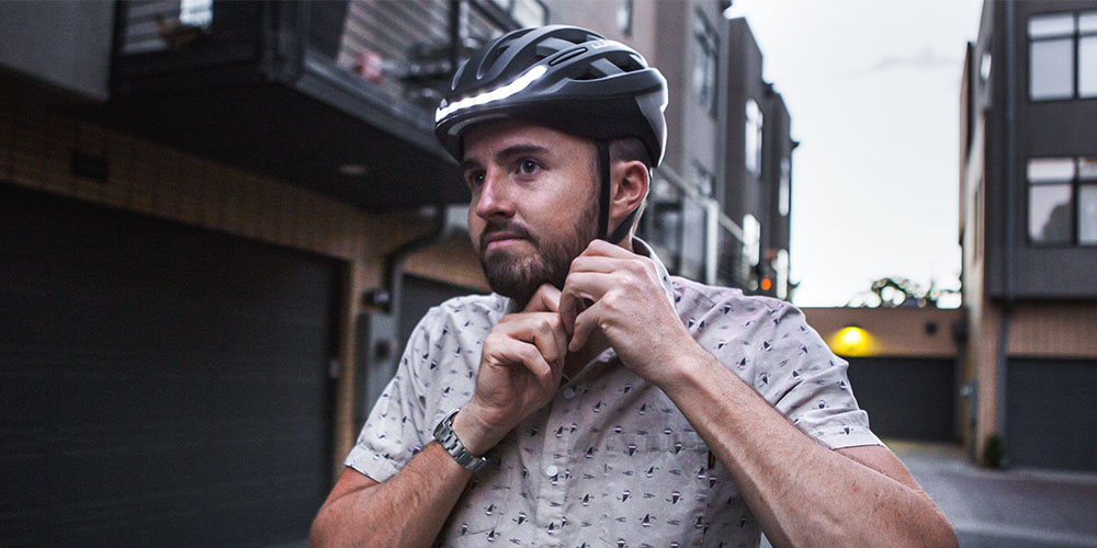 Lumos Smart LED Helmet (Kickstart/Charcoal Black), on sale for $179.99