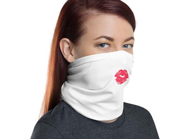 Reusable Fun Face Cover / Neck Gaiter (Lipstick)