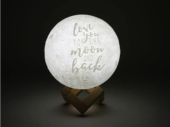 """Love You To The Moon And Back"" Original Moon Lamp (9"")"